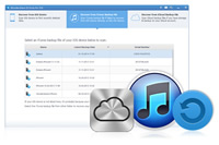 Wondershare iPhone Data Recovery - Extract iTunes Backup