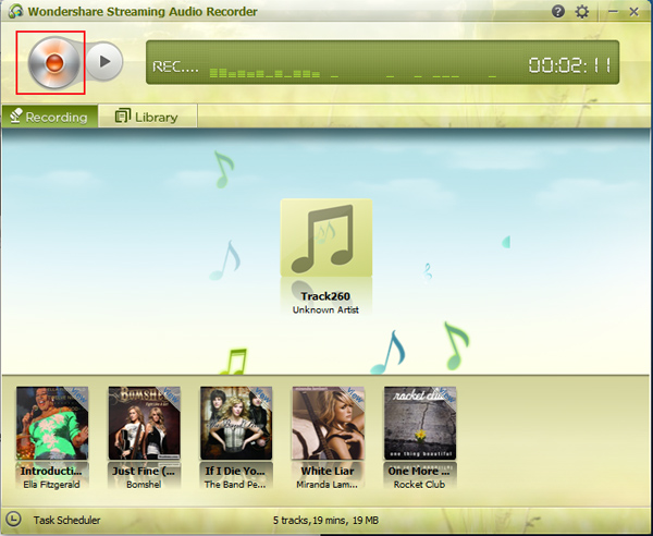 Streaming Audio Recorder, Record Music from internet - Main Screenshot