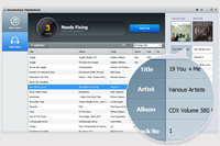 Wondershare TidyMyMusic, fix mislabeled songs, find album arts