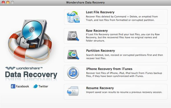 Recover deleted files on Mac, Mac Trash Recovery - main interface
